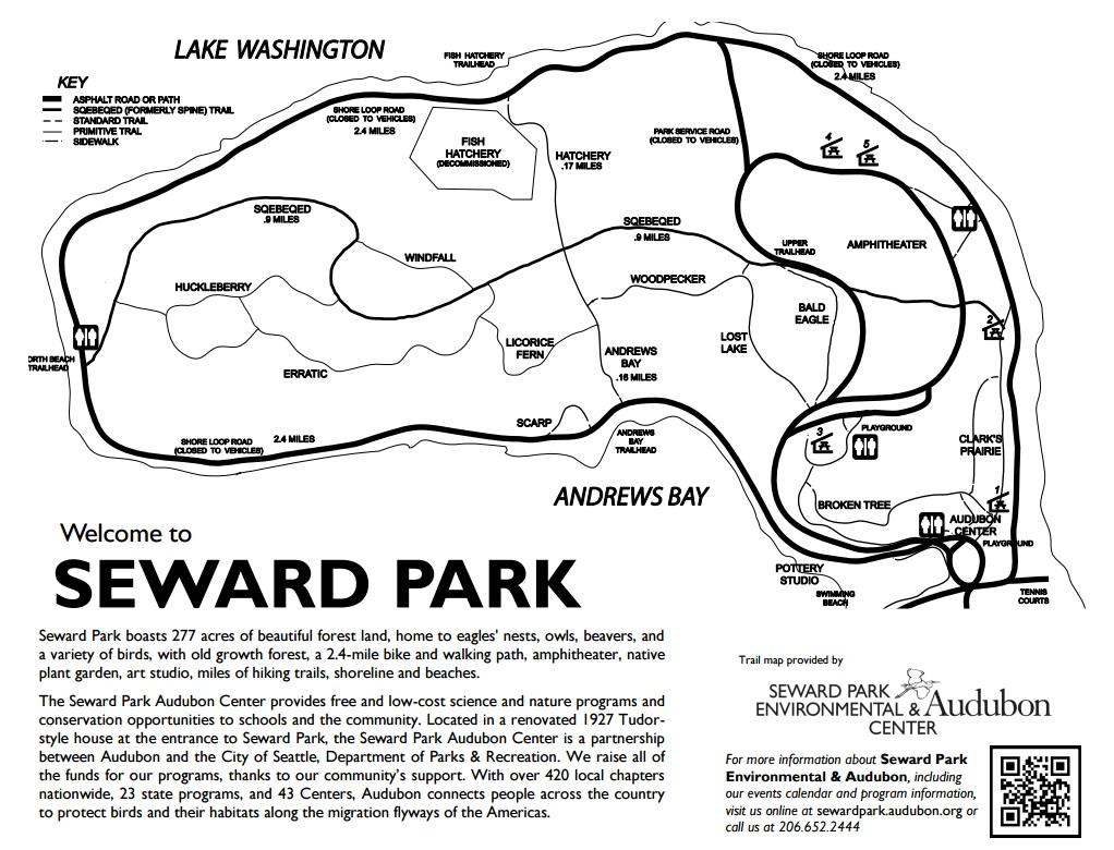 Hours, Directions & Park Maps   Seward Park Audubon Center